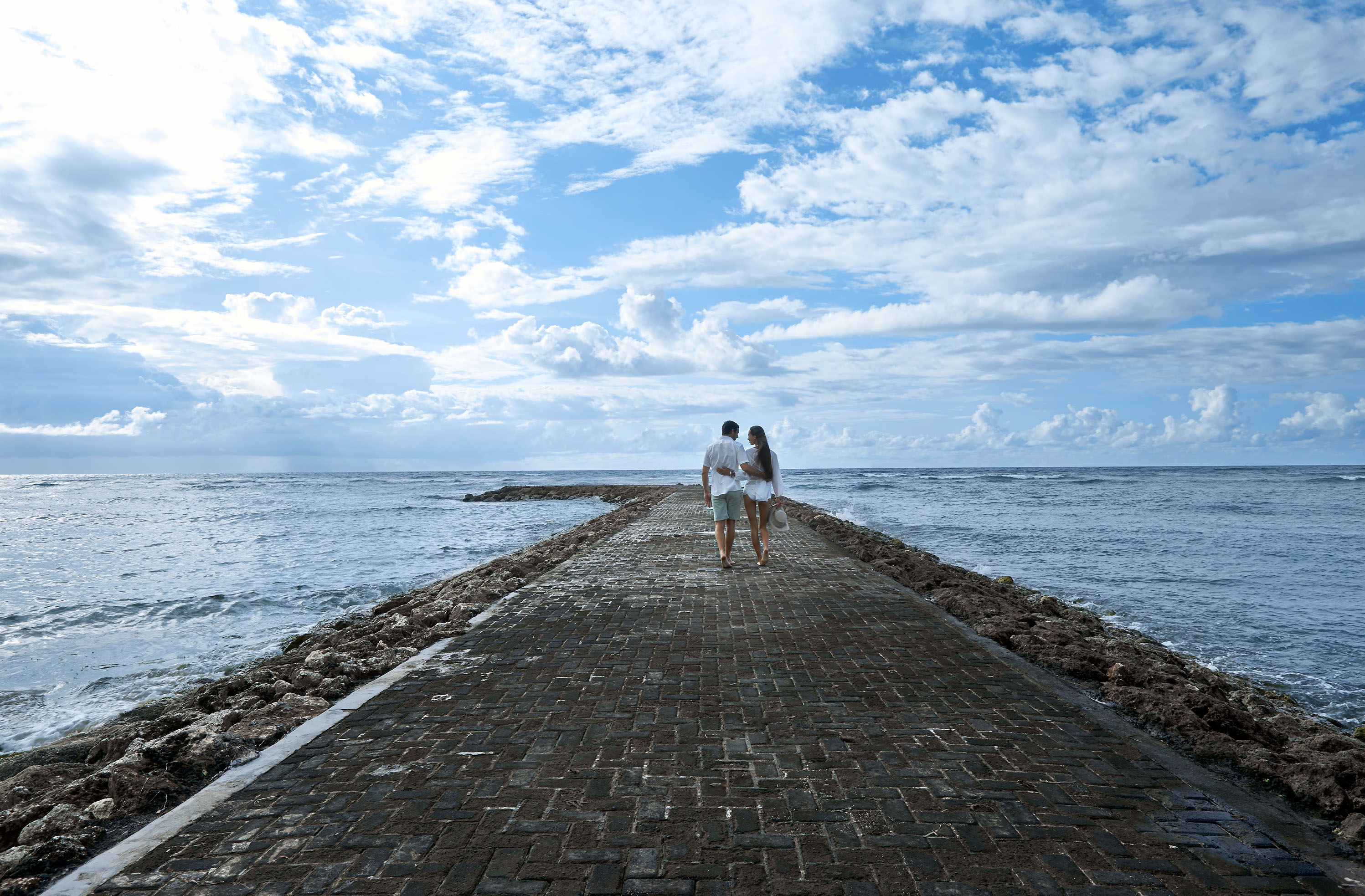 Couple on The Walkway